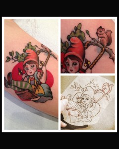Gnome tattoo by Siobhan